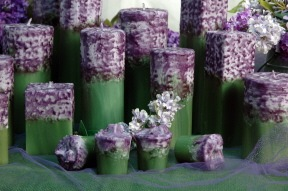 Lilac Flower Candles